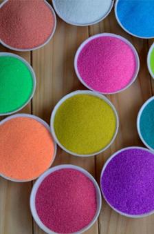 外墙涂料染色彩砂